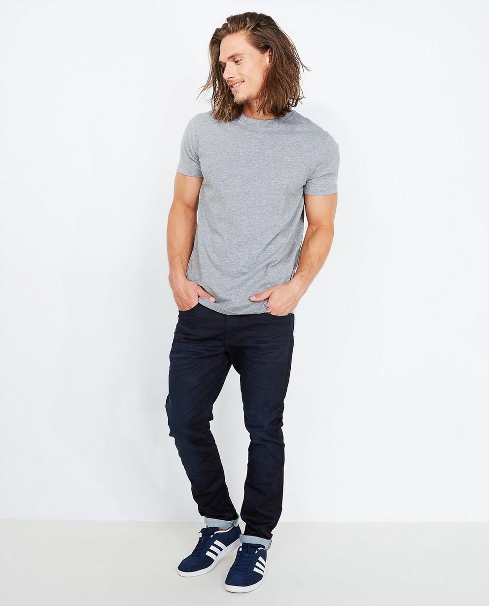 Nachtblauwe slim jeans - sweat denim - Quarterback